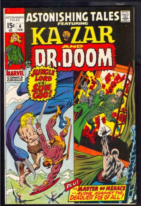 Astonishing Tales #4 (Feb-71) VF/NM High-Grade Ka-Zar