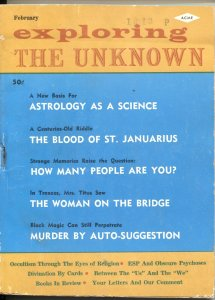 EXPLORING THE UNKNOWN #18-1963-WITCHCRAFT-OCCULT-REINCARNATION--PULP MYSTERIES