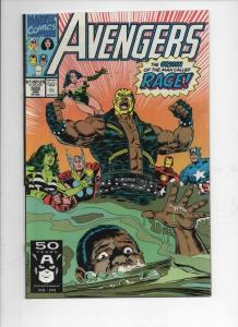 AVENGERS #328, VF/NM, Captain America, Origin of Rage, 1963 1991, Marvel