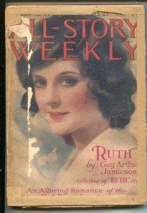 All-Story Weekly 2/21/1920 Ray Cummings-Ruth by Guy Arthur Jamieson-100+ ye...