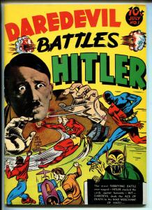 DAREDEVIL BATTLES HITLER #1 REPRINT #1970'S-DYNA PUBS-SILVER STREAK-THE CLAW-vf