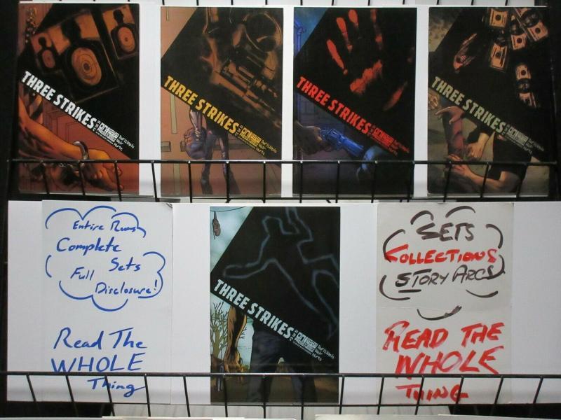 THREE STRIKES (2003 ONI) 1-5  complete series!