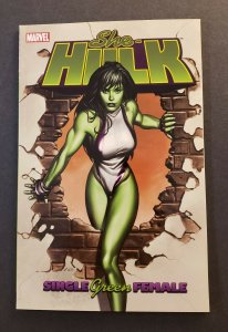SHE-HULK VOL.1 SINGLE GREEN FEMALE TPB SOFT COVER FIRST PRINT NM MARVEL