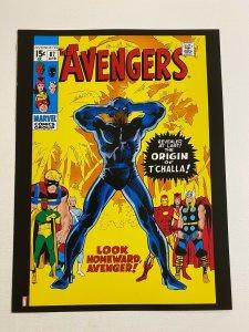 Avengers #87 Origin Black Panther Marvel Comics poster by John Buscema
