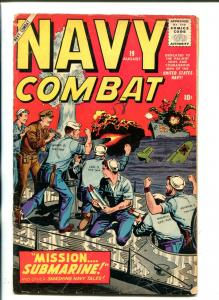 Navy Combat #19 1958-Marvel artists tribute cover VG