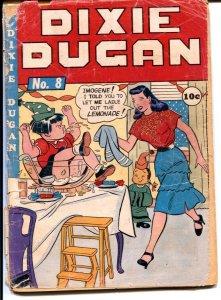 Dixie Dugan #8 1947-Bizarre suggestive cover-girl art panels-FR