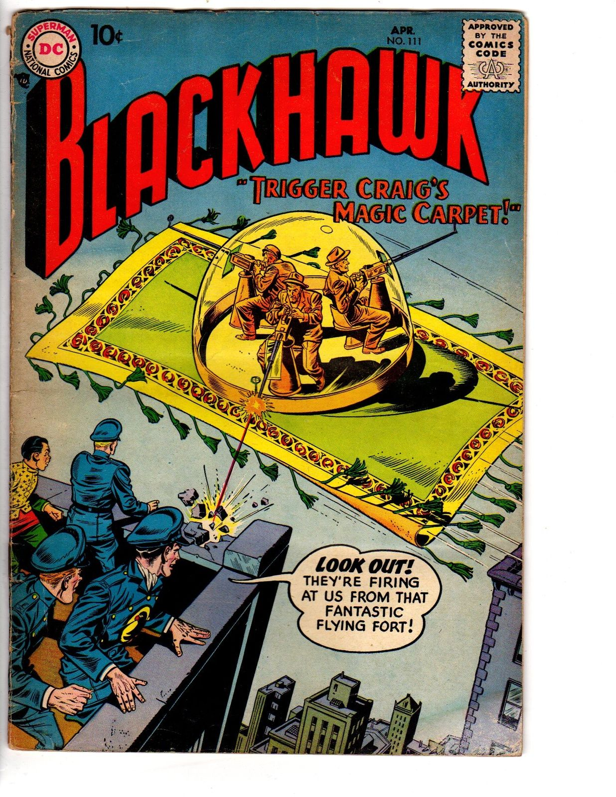 BLACKHAWK 111 G-VG April 1957 / HipComic