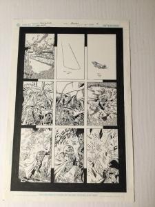 Green Lantern 5 Original Art Page 4 Black Hand Diacovers Powers Ethan Van Sciver