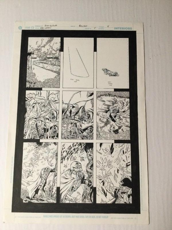 Green Lantern 5 Original Art Page 4 Black Hand Diacovers Powers Ethan Van Sciver