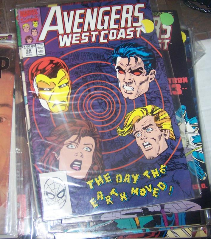 west coast avengers  # 57 MAY 1990  +DISASSEMBLE VIBRO EARTHQUAKE