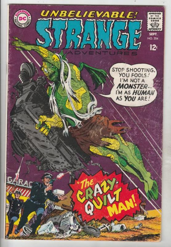 Strange Adventures #204 (Sep-67) FN Mid-Grade The Crazy-Quilt Man