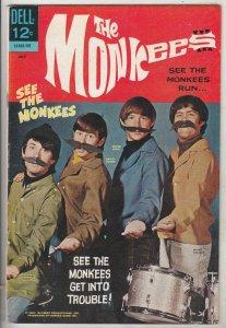 Monkees, The #3 (Jul-67) VF/NM High-Grade The Monkees (Peter Tork, David Jone...