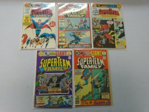 Super-Team Family lot 9 different from #1-12 avg 5.0 VG FN (1975-77)