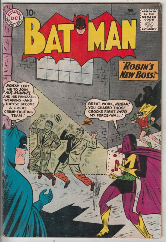 Batman #137 (Feb-61) VG/FN Mid-Grade Batman