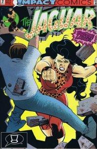 Jaguar #2 ORIGINAL Vintage 1991 Impact Comics GGA