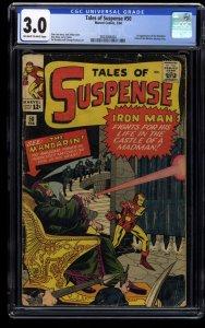 Tales Of Suspense #50 CGC GD/VG 3.0 Off White to White 1st Mandarin!
