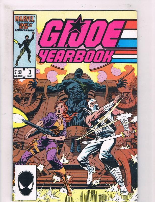 GIJoe Yearbook 3 VF NM Marvel Comic Books Snake Eyes Cobra Storm Shadow
