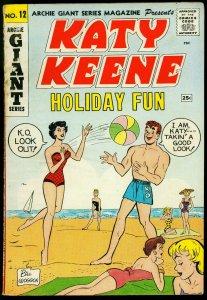 Katy Keene Holiday Fun #12 1961- Final issue- Baby Katy G/VG