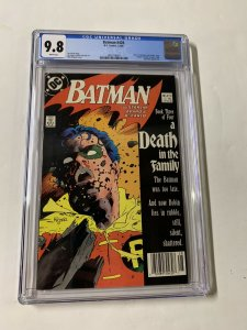 Batman 428 Cgc 9.8 White Pages Newsstand Edition Dc Comics Death Jason Todd 007