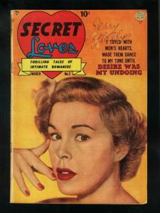 SECRET LOVES #3 1950-SPICY REED CRANDALL ART-PHOTO COVER-very good VG