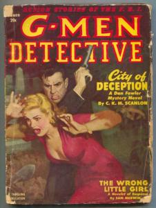 G-Men Detective Pulp Summer 1950- City of Deception G