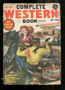 COMPLETE WESTERN PULP-1951-AUG-N SAUNDERS-RUSTLERS-GUNS G