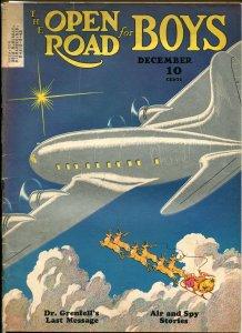 OPEN ROAD FOR BOYS 12/1940-PARKHURST INTERIOR ART-PULP FICTION-SANTA CLAUS-vg-