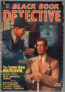BLACK BOOK DETECTIVE 1947 OCT-BLACK BAT-PULP-HERO PULP-RARE VG