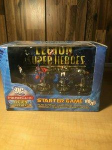 DC Heroclix Legion of Superheroes Starter Game Set SEALED Young Superman MFT4