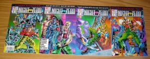 Night Zero #1-4 VF/NM complete series - fleetway quality comics set lot 2 3