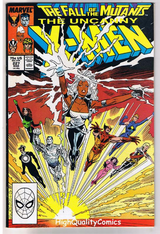 X-MEN #227, VF+, Fall of the Mutants, Wolverine, Uncanny, more in store