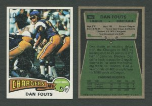 1975 Topps Football /  Dan Fouts  #367 / ROOKIE /  EXMT