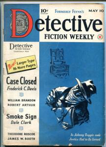 Detective Fiction Weekly Pulp May 10 1941- Electric Chair cover- VG