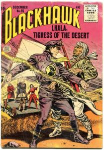 BLACKHAWK COMICS #95 1955-TIGRESS OF DESERT-LHALA VG-