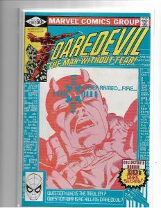 DAREDEVIL #167 - NM- CLASSIC FRANK MILLER RUN - BRONZE AGE KEY