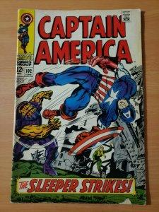 Captain America #102 ~ VERY GOOD - FINE FN ~ 1968 Marvel Comics