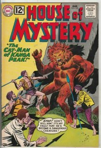 House of Mystery # 120 Strict VF/NM High-Grade Cover Cat-Man creature up now