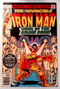 Iron Man #107 Marvel 1978 FN+ Bronze Age Comic Book 1st Print