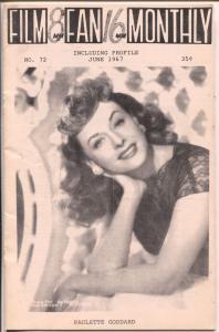 Film Fan Monthly #72 6/1967-Paulette Goddard-Eric Benson-VG