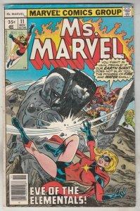 Ms. Marvel #11 (Nov-77) FN+ Mid-High-Grade Ms. Marvel