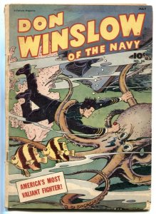 Don Winslow of the Navy #36 1946- Wils Octopus fight cover VG