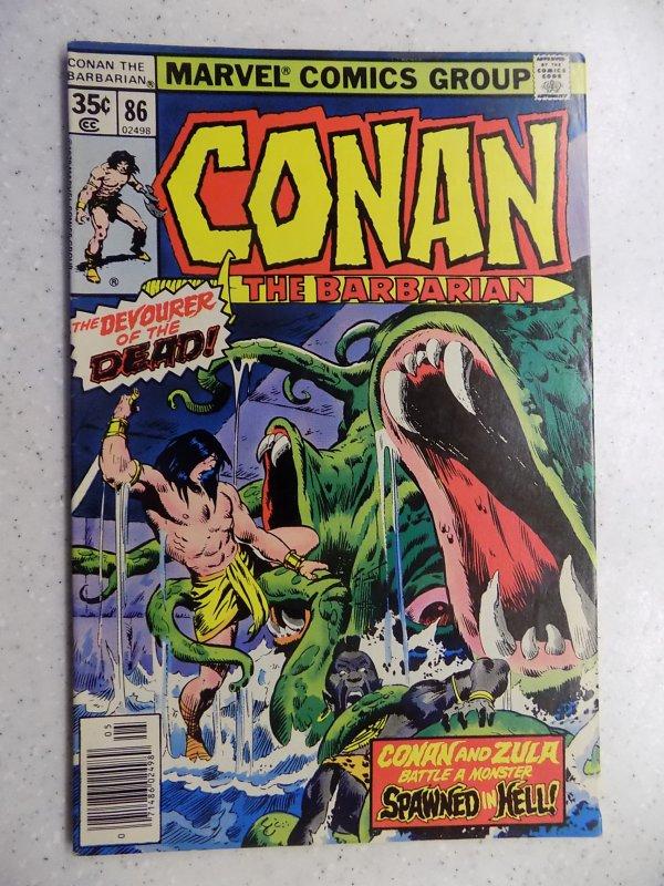 CONAN THE BARBARIAN # 86 MARVEL SAVAGE SWORD FANTASY