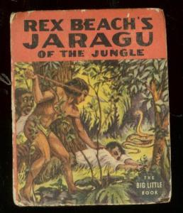 REX BEACH'S JARAGU OF THE JUNGLE-BLB #1424-SNAKE COVER- VG