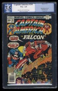 Captain America #201 PGX VG- 3.5 Cream To Off White Marvel Comics