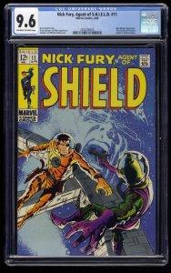 Nick Fury, Agent of SHIELD #11 CGC NM+ 9.6 Marvel Comics