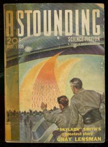ASTOUNDING SCIENCE-FICTION NOV 1939-L RON HUBBARD--PULP G