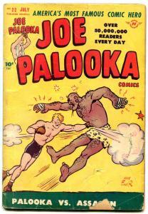 JOE PALOOKA #22 1948-HARVEY COMICS-POWELL ART-BLACK CAT G/VG