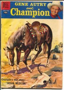 Gene Autry and Champion #118 1958-Dell-Savitt cover-Sgt Preston ad-VG