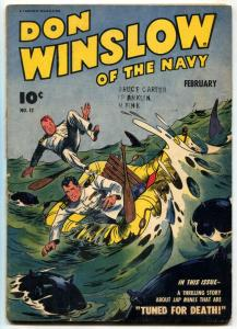 Don Winslow Of The Navy #12 1944- Shark cover- restored VG