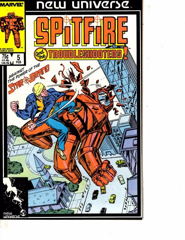 Lot Of 8 Spitfire Troubleshooters Marvel Comic Books #5 6 7 8 9 10 11 12  ON11